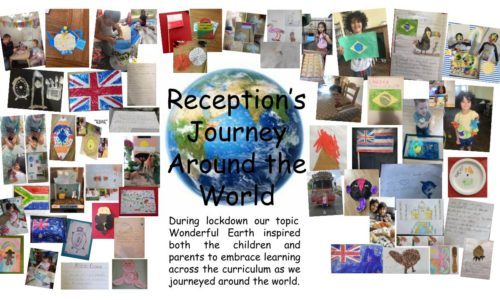 Collection of work by current Reception children during lock down.